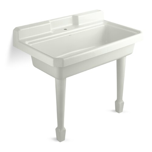 Harborview 48 X 28 Single Top Mount Or Wall Mount Utility Sink With Faucet Hole Wayfair