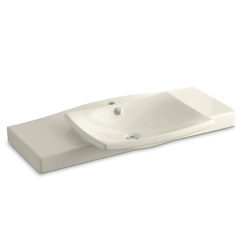 Escale Vanity Top and Basin with Single-Hole Faucet Drilling