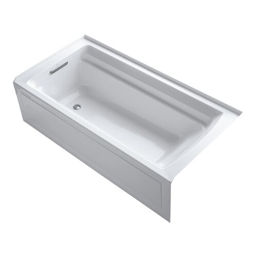 "Kohler Archer 72"" X 36"" Alcove Bath with Integral Apron and Left-Hand Drain"