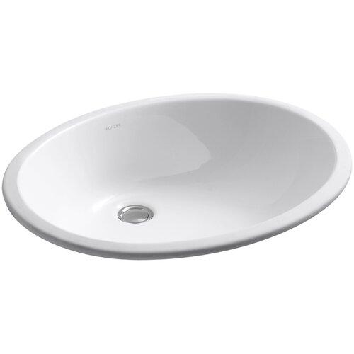 Caxton Undercounter Lavatory with Glazed Underside, 19