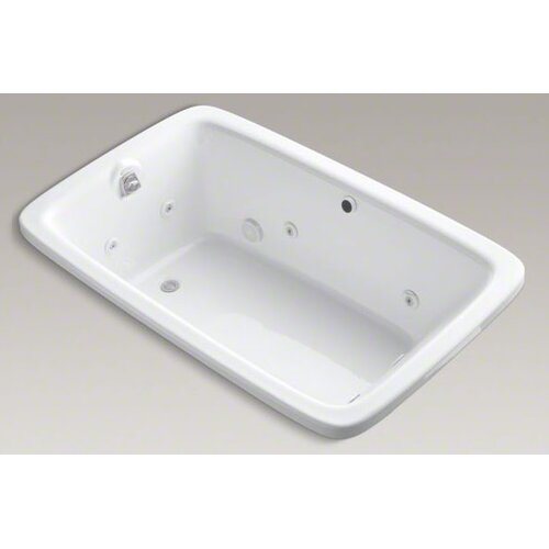 "Kohler Bancroft 65-7/8"" Drop In Jetted Whirlpool Bath Tub with Right Side Drain"