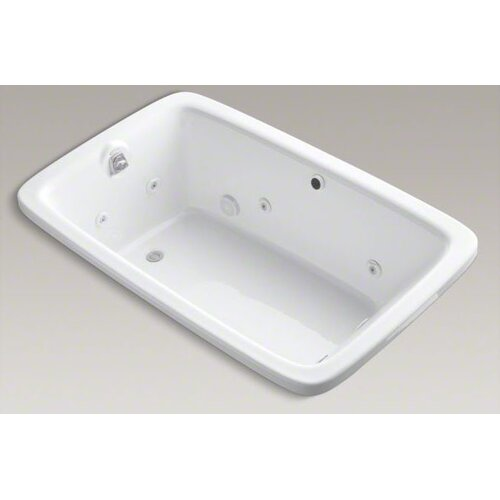 """Kohler Bancroft 65-7/8"""" Drop In Jetted Whirlpool Bath Tub with Left Side Drain"""