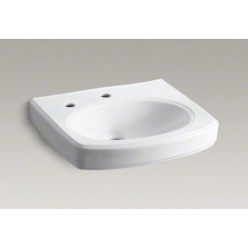 Pinoir Lavatory Basin with Single-Hole Drilling and Left-Hand Soap Dispenser