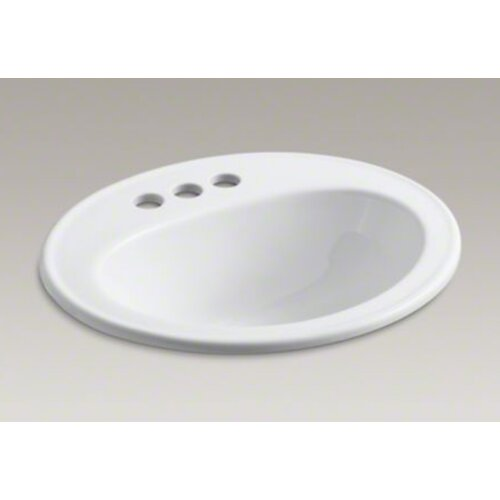"""Kohler Pennington Self-Rimming Lavatory with 4"""" Centers and Sealed Overflow"""