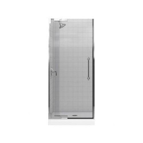 "Kohler Pinstripe 36.25"" - 32.75"" Pivot Shower Door with 0.375"" Crystal Clear Glass"