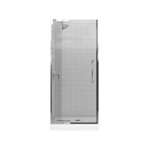 "Kohler Finial 32.75"" W x 72.25"" H Pivot Shower Door with 0.375"" Glass"
