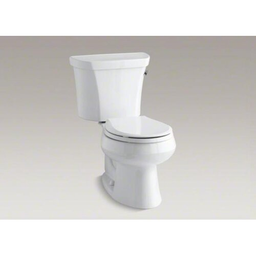 Wellworth Two-Piece Round-Front 1.6 Gpf Toilet with Class Five Flush Technology, Right-Hand ...