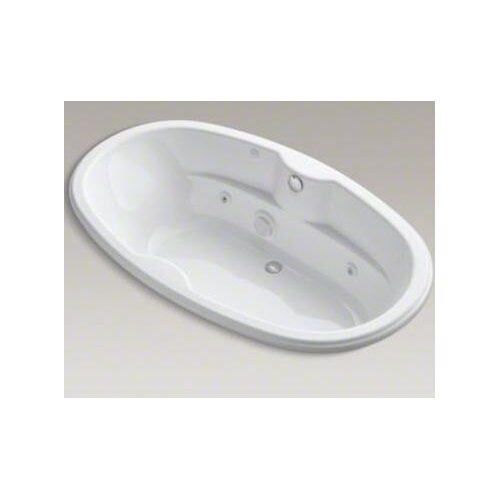 "Kohler Proflex Collection 72"" Oval Drop In/Undermount Jetted Whirlpool Bath Tub with Center Drain and Custom Pump Location"