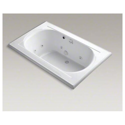 """Kohler Memoirs Collection 66"""" Drop In Jetted Whirlpool Bath Tub with Center Drainwith Right Back Pump Placement"""