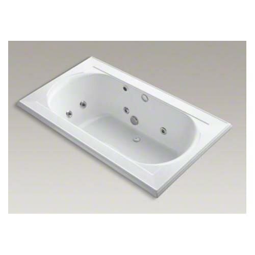 """Kohler Memoirs Collection 72"""" Drop In Jetted Whirlpool Bath Tub with Center Drain with Right Front Pump Placement"""