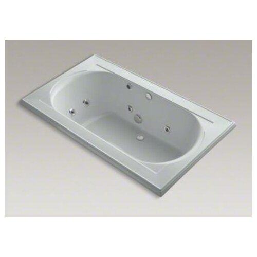 "Kohler Memoirs Collection 72"" Drop In Jetted Whirlpool Bath Tub with Center Drain with Right Back Pump Placement"