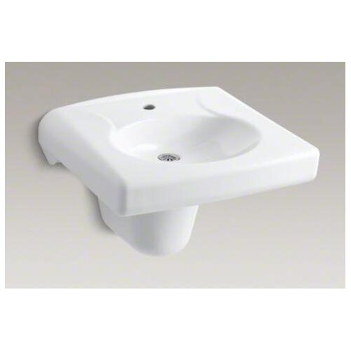 Brenham Wall-Mount Lavatory and Shroud with Single-Hole Drilling