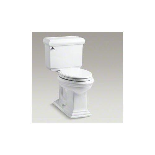 Kohler Memoirs Classic Comfort Height Two-Piece Elongated 1.6 Gpf Toilet with AquaPiston Flush Technology and Left-Hand Trip Lever