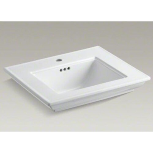Memoirs Lavatory Basin with Stately Design and Single-Hole Drilling