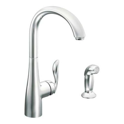 Arbor Single Handle Single Hole Kitchen Faucet with Side Spray
