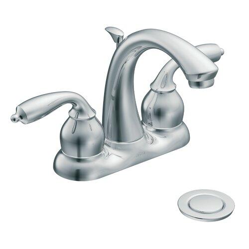Moen Bayhill Centerset Bathroom Faucet with Double Handles
