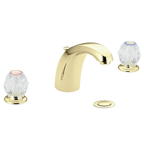 Moen Chateau Widespread Bathroom Faucet with Cold and Hot Double Handles