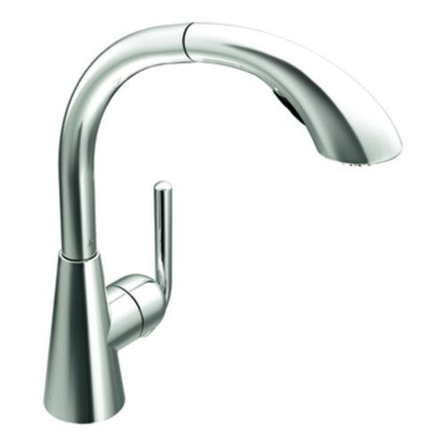 Ascent One Handle Single Hole High Arc Pullout Kitchen Faucet