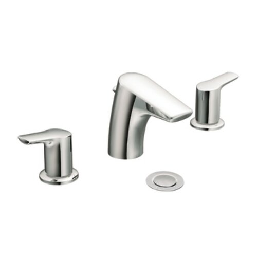 Method Double Handle Widespread Low Arc Bathroom Faucet