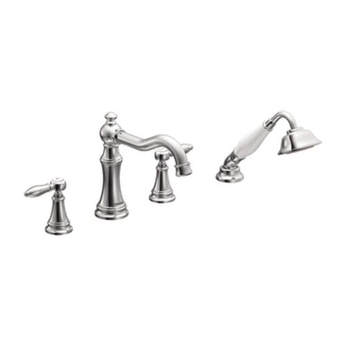 Moen Weymouth Two Handle Diverter Roman Tub Faucet