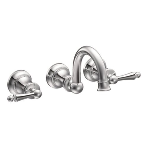 Waterhill Two Handle Widespread Wall Mount Bathroom Faucet