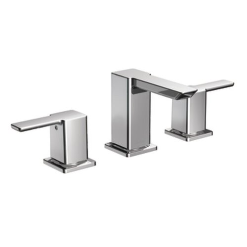 Moen 90 Degree Double Handle Widespread Bathroom Faucet