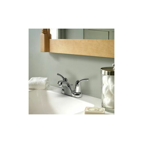 Adler Two Handle Centerset Low Arc Lead Compliant Bathroom Faucet
