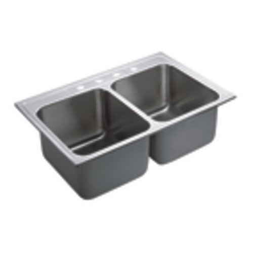 Drop In Kitchen Sinks Double Bowl : Commercial 33