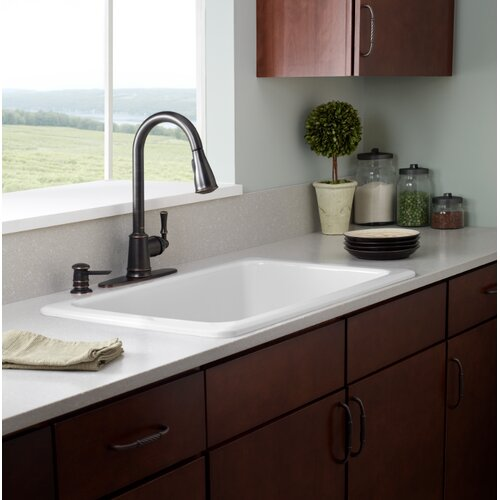 Moen Kleo One Handle High Arc Lead Compliant Kitchen Faucet