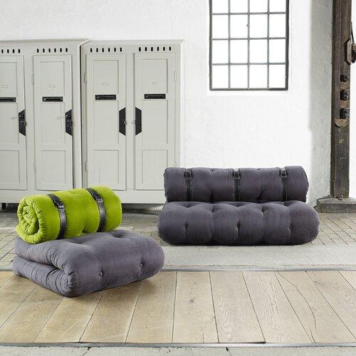 "Karup Sofa ""Buckle-Up"" in Grau mit 3 Metalgürteln"