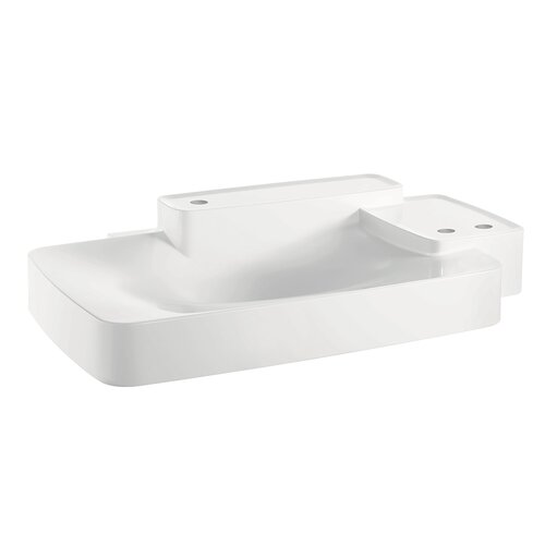 Axor Bouroullec Large Wall Mounted Bathroom Sink with Two Shelves