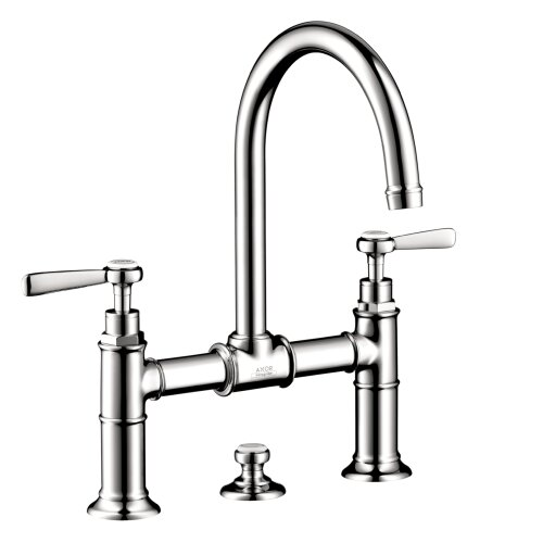 Axor Montreux Widespread Model Bridge Faucet with Lever Handle