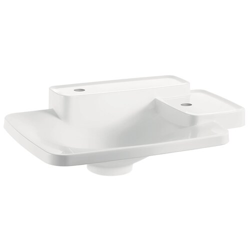 Axor Bouroullec Small Drop In Bathroom Sink with Two Shelves