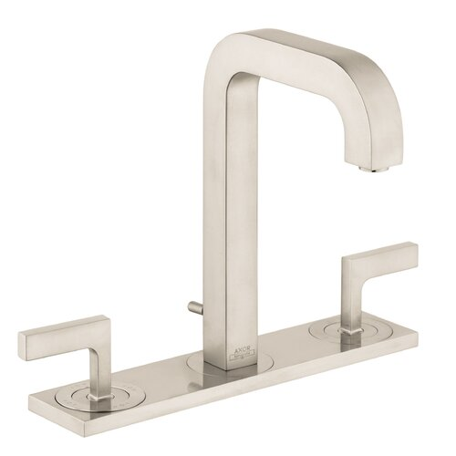 Axor Citterio Widespread Faucet with Lever Handle and Base Plate