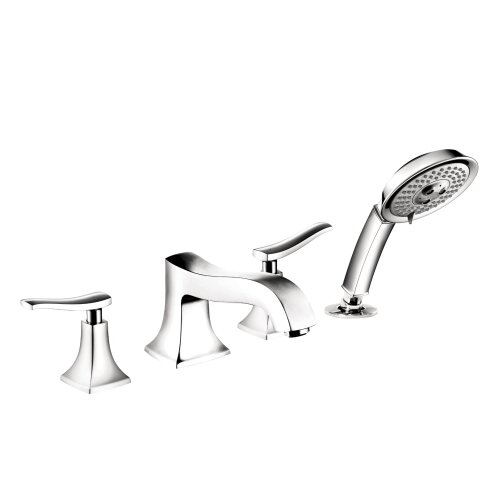 Hansgrohe Metris C Double Handle Diverter Roman Tub Faucet With Hand Shower