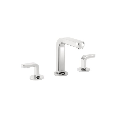 Metris S Widespread Bathroom Faucet with Double Lever Handles