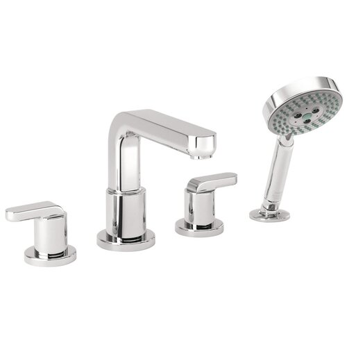 Hansgrohe Metris Double Handle Diverter Roman Tub Faucet with Hand Shower
