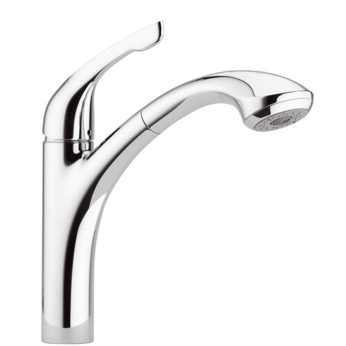 Single Handle Kitchen Faucet with Pull Out Spray