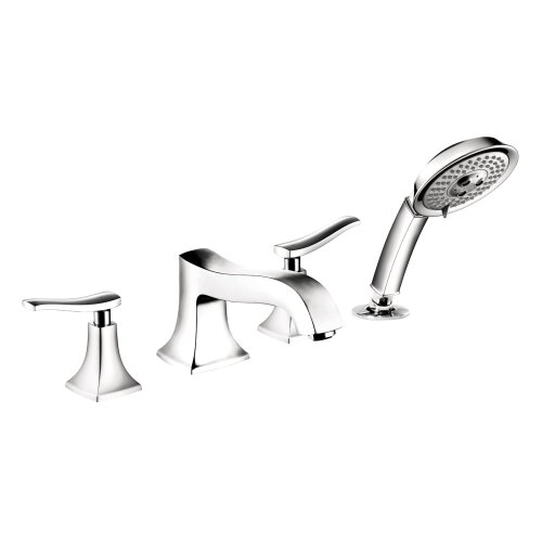 Hansgrohe Metris C Double Handle Diverter Roman Tub Faucet with Hand Shower