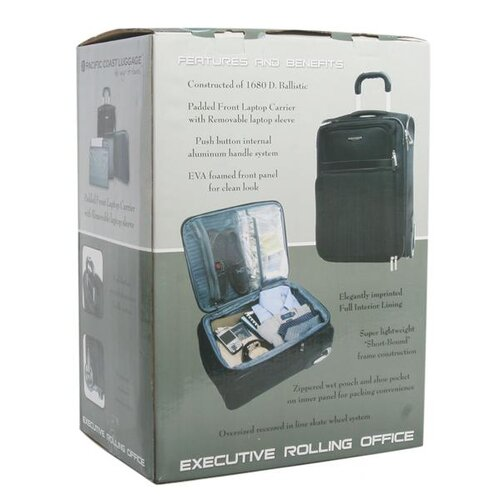 """American Traveler Executive 20"""" Rolling Office in Black"""