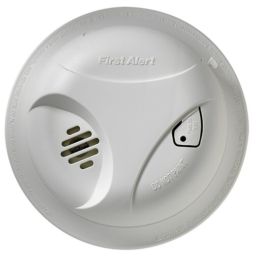 First Alert Battery Operated Smoke Alarm with Single Test Button (Set of 2)