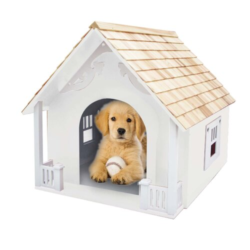 Home Bazaar Bark-itecture Heart Dog House
