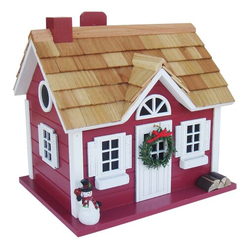 Holiday Offerings Christmas Cape Cottage Hanging Birdhouse