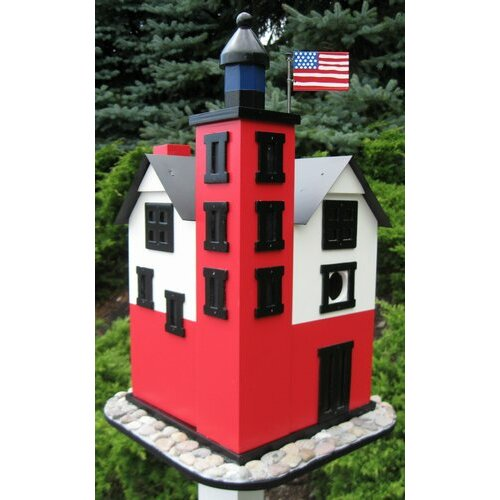 Home Bazaar Historic Reproductions 'Round Island' Lighthouse Birdhouse