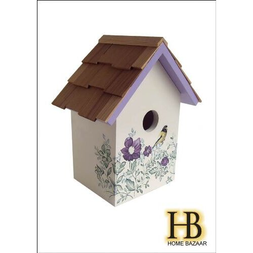 Home Bazaar Botanical Print Standard Cottage Birdhouse