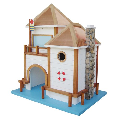 Designs By Ken Sobel Lake House Free Standing Birdhouse