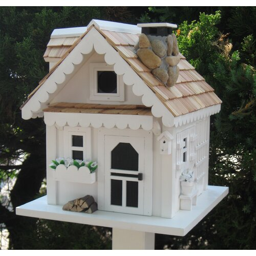 Home Bazaar Cottage Charmer Series Tranquility Free Standing Birdhouse