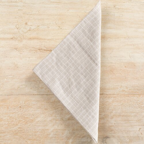 Pine Cone Hill Parchment Checkerboard Napkin (Set of 4)