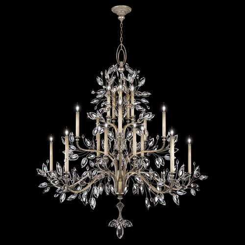 Crystal Laurel 20 Light Chandelier