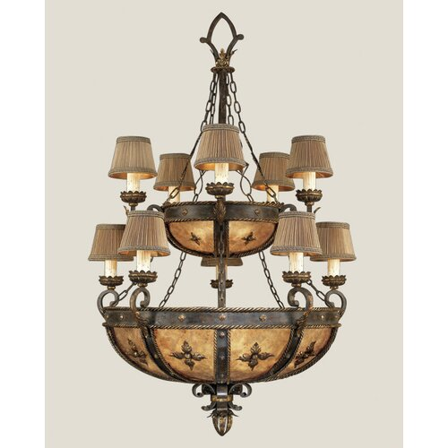 Castile Ten Light Chandelier in Antique Gold